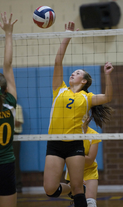 Paul Fraughton | The Salt Lake Tribune Taylorsville High School's Tasia Taylor plays in a match against Kearns High.