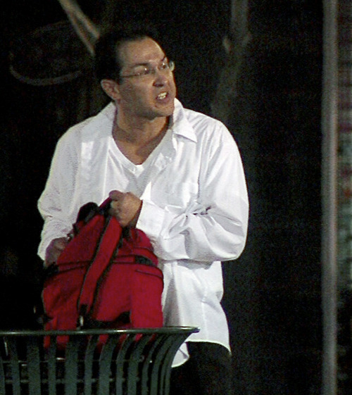 Courtesy   KUTV A man who claimed to have a bomb Thursday night at the Gallivan Center TRAX station is seen in this photo.