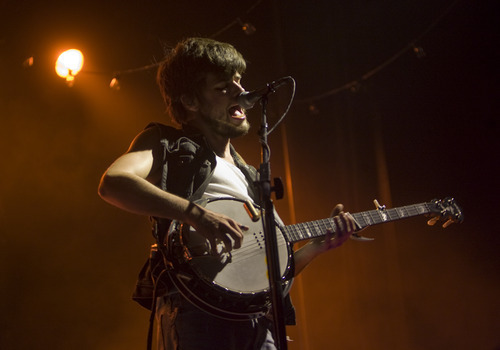 Kim Raff  |  Tribune file photo Mumford & Sons' Winston Marshall can play a mean banjo, but can't explain the Raiders' popularity.