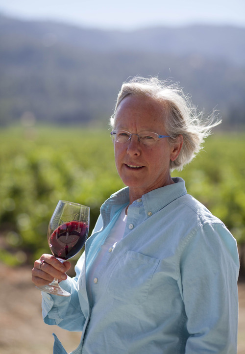 This photo taken Thursday, Aug. 9, 2012 shows winemaker Cathy Corison at Corison Winery in St. Helena, Calif. Research by Santa Clara University professors Lucia Albino Gilbert and John Gilbert found that women tend to be more highly acclaimed than their male counterparts as winemakers. (AP Photo/Eric Risberg)