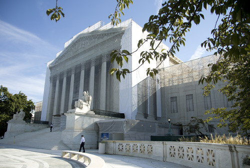 The Supreme Court is seen in Washington, Monday, Oct. 1, 2012. The Supreme Court is embarking on a new term that could be as consequential as the last one with the prospect for major rulings about affirmative action, gay marriage and voting rights. (AP Photo/Carolyn Kaster)