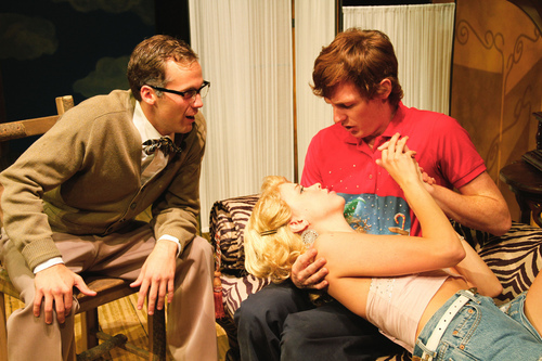 Courtesy of Michele Collins Drew Baker, left, as Dr. Goosens, Ana Lemke as Taylor and Jaten Lee McGriff as Vernon in the University of Utah department of theatre's production of