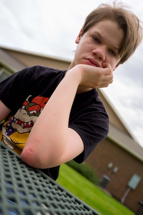 Trent Nelson  |  The Salt Lake Tribune Garrett Lines is a teenager with autism who lives in a group home after his mother, Nikki Lines, turned him over to the child welfare system a few years ago. Lines was photographed in Midvale, Utah, Thursday, September 6, 2012.