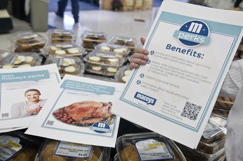 Chris Detrick  |  The Salt Lake Tribune Jason Sokol, director of retail marketing at Associated Food Stores, talks about their new M Perks program at Macey's.