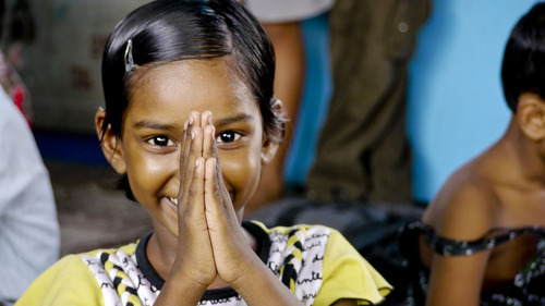 Courtesy photo Girl at New Light Crèche in Kolkata, India.