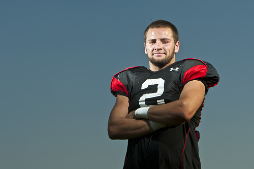 Chris Detrick  |  The Salt Lake Tribune Utah Utes safety Brian Blechen poses for a portrait after a practice Tuesday September 18, 2012.