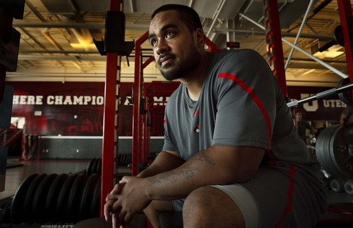 Leah Hogsten  |  The Salt Lake Tribune University of Utah football player  Star Lotulelei, Tuesday, May 29 2012 in Salt Lake City.