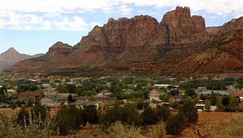 Tribune file photo The twin towns of Colorado City, Arizona and Hildale, Utah, where many followers of Warren Jeffs' FLDS church reside.