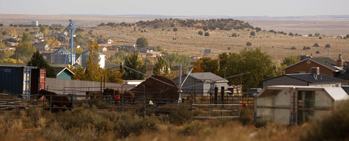 A piece of property known as Berry Knoll, as seen from Colorado City, Ariz. in October 2008. The proposed sale of Berry Knoll by trust adminstrator Bruce Wisan sparked a long-running legal fight. Trent Nelson/The Salt Lake Tribune