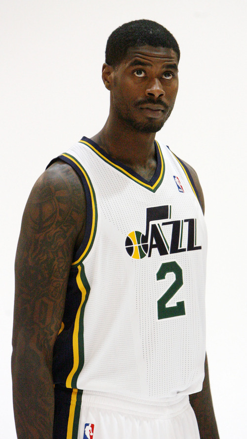 Steve Griffin | The Salt Lake Tribune   New Jazz forward Marvin Williams is photographed during Jazz media day in Salt Lake City on Oct. 1, 2012.