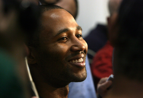 Steve Griffin   The Salt Lake Tribune   New Jazz guard Mo Williams smiles as he is interviewed during Jazz media day in Salt Lake City on Monday, Oct. 1, 2012.
