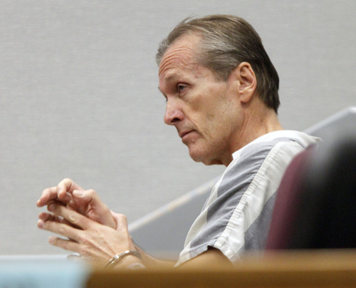 Al Hartmann  |  The Salt Lake Tribune Martin MacNeill,  a doctor accused of murdering his wife appears in Judge Sam Mcvey's Fourth District Court in Provo Wednesday October 3 for the first day of preliminary hearings.