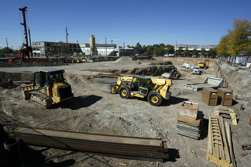 Francisco Kjolseth  |  The Salt Lake Tribune The empty hole on the corner of 1100 East and 2100 South in Sugar House finally sees some activity as crews dig the lower parking garage of the new development. The American Planning Association announced Wednesday that the Fairmont-Sugar House area is among the