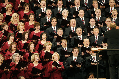 Tribune file photo Ron Jarrett, who reported to his new volunteer position last month, sang in the choir for nine years. He's the first Tabernacle Choir president to have done so.