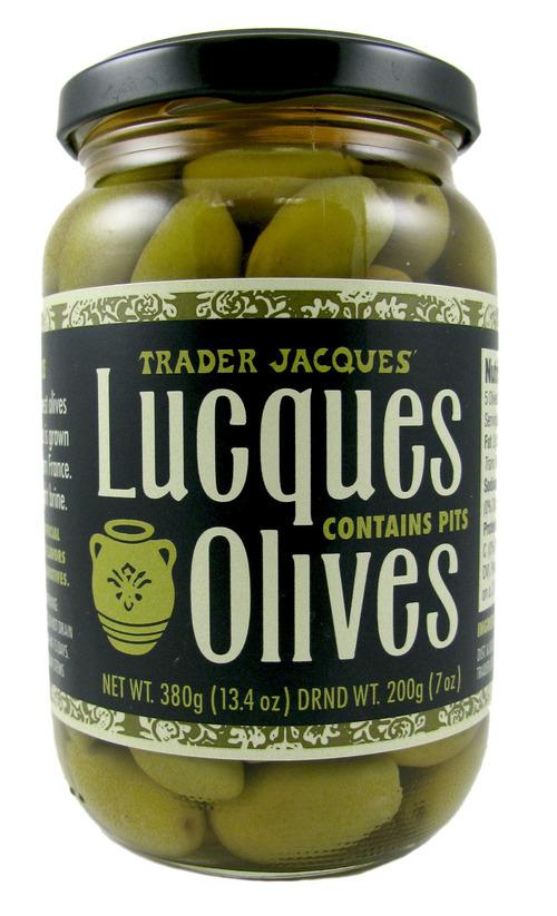 Trader Joe's branded Lucques Olives. Courtesy image.