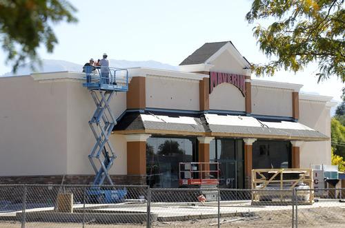 Al Hartmann  |  The Salt Lake Tribune New Maverik gas station-convenience store under contruction on the southeast corner of 28th and Washington Blvd in Ogden.