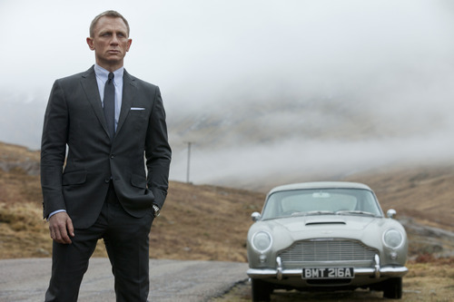 FILE - This publicity file photo released by Columbia Pictures shows Daniel Craig as James Bond in the action adventure film,