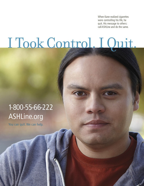 A recent ad from RIESTER's adult tobacco cessation campaign. Courtesy image