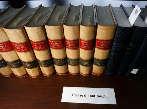 Tribune file photo A collection of volumes of