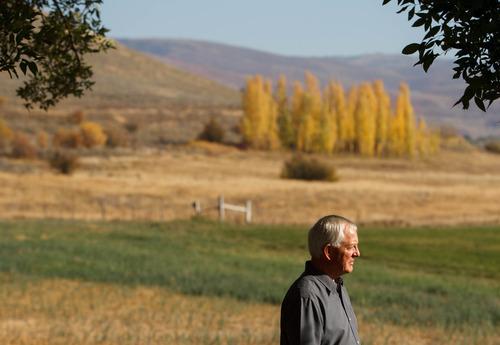 Trent Nelson  |  The Salt Lake Tribune Retiring LDS Church historian Marlin Jensen on Wednesday, Oct. 3, 2012, at his home in Huntsville.