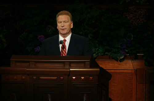 Scott Sommerdorf     The Salt Lake Tribune              Mormon Church leader Craig C. Christensen, of the First Quorum of the Seventy, speaks at the 182nd Semiannual General Conference, Saturday, October 6, 2012.