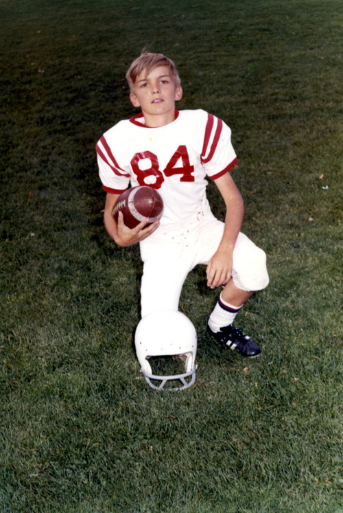 Courtesy photo Jim Matheson played football as a youth and at East High School. He remains a devoted Runnin' Utes fan.