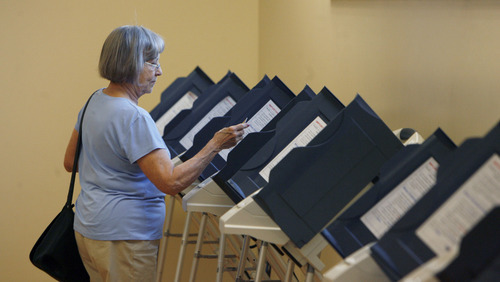 Francisco Kjolseth  |  Tribune file photo Utah election officials have purged some 76,000 voter names from the rolls, sparking criticism from Democrats. County clerks say nothing is amiss -- just the normal cleanup of voter rolls to eliminate those who haven't participated in several elections.