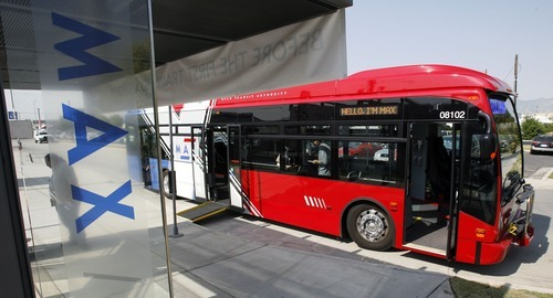 Salt Lake City -  The Utah Transit Authority shows off  its new