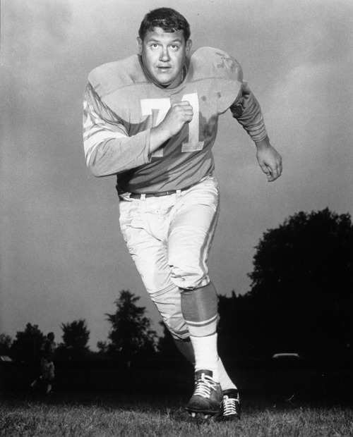 This undated photo provided by the NFL shows Detroit Lions defensive tackle Alex Karras.  Karras, who gained fame in the NFL as a fearsome defensive lineman and later as an actor, has died. He was 77. Craig Mitnick, Karras' attorney, said Karras died at home in Los Angeles on Wednesday, Oct. 10, 2012, surrounded by family.   (AP Photo/NFL Photos)