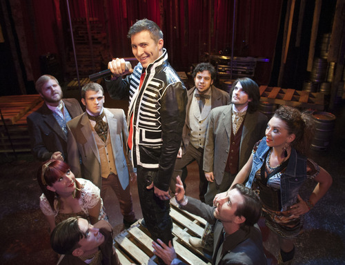 Steve Griffin   The Salt Lake Tribune J.C. Ernst, standing, as Andrew Jackson, and the rest of the cast  in a scene from SLAC's upcoming play