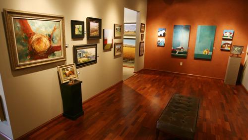 Steve Griffin | The Salt Lake Tribune    Artwork in the art show