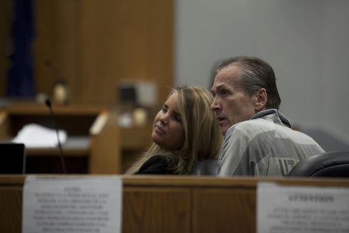 Mark Johnston | Daily Herald  Martin MacNeill, right, sits with his attorney Susanne Gustin during a preliminary hearing at the Fourth District Court in Provo Wednesday, Oct. 10, 2012.