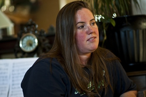 Jennifer Graves talks about her brother Josh Powell and dad Steve Powell at her home in West Jordan Friday. (Chris Detrick  |  The Salt Lake Tribune)