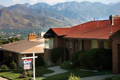 Kim Raff | The Salt Lake Tribune Home prices in the Salt Lake City area continued to show gains in August.  The house at 761 N. Sunrise Ave. is for sale in Salt Lake City, Utah on September 28, 2012.