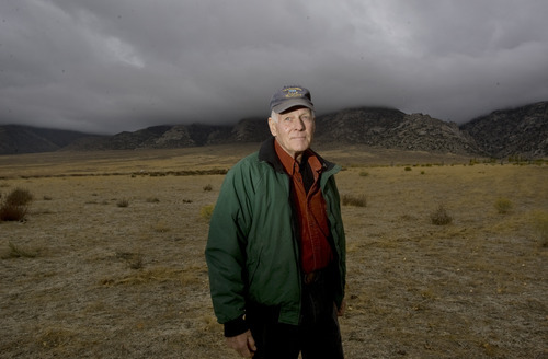 Kim Raff |  The Salt Lake Tribune Don Duff, shown outside his home in Callao in Juab County, was a 25-year-old Air Force airman in October 1962 when he confirmed what is believed to be the first Soviet ballistic missile detected in reconnaissance photos during the height of the Cuban Missile Crisis.