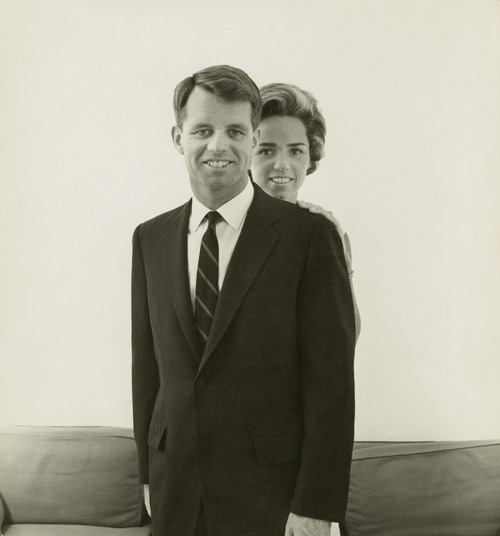 Robert F. Kennedy and Ethel Kennedy, 1961, in this scene from