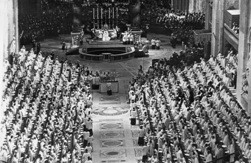 The second Vatican Ecumenical Council - Roman Catholicism's greatest assembly of prelates in history - was opened Oct. 11, 1962 by Pope John XXIII in St. Peter's Basilica in Vatican City. (AP Photo)