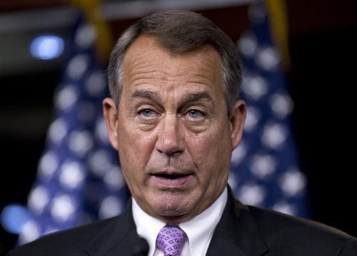 J. Scott Applewhite  |  The Associated Press Speaker of the House John Boehner, R-Ohio