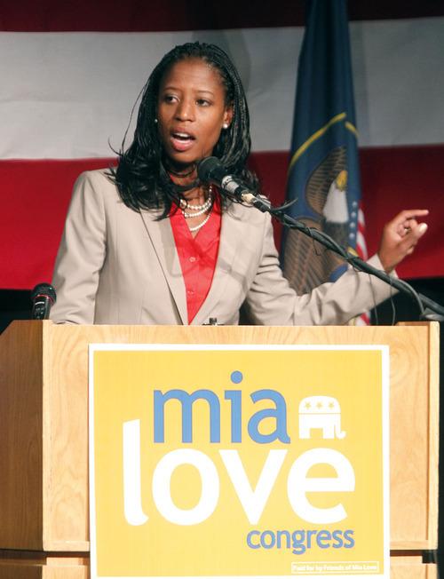 Al Hartmann  |  The Salt Lake Tribune 4th District Congressional candidate Mia Love
