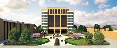 A rendering of the LDS Church's now-abandoned plan for the Missionary Training Center in Provo. Courtesy of The Church of Jesus Christ of Latter-day Saints