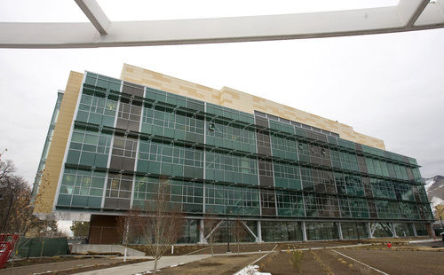 Al Hartmann  |  The Salt Lake Tribune Construction jobs are off 25 percent in the Logan area, which had been faring comparatively well in that sector. This new building at Utah State University will house the School of Agriculture. When construction is done it will  take jobs with it.
