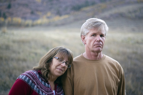 Kim Raff | The Salt Lake Tribune Jeff and Tlesa Riehl are photographed outside their home in Park City.  Jeff Riehl has long since recovered from a four-hour surgery in 2011 to remove the damaged quarter of his right lung. But only recently did he square away the $60,000 hospital bill.