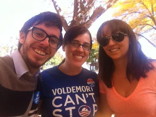 Jefferson Campbell, Annette Bowman and Camry Haskins are among the Utah Democrats who have made trips to Colorado to help campaign for President Barack Obama.  Courtesy Annette Bowman