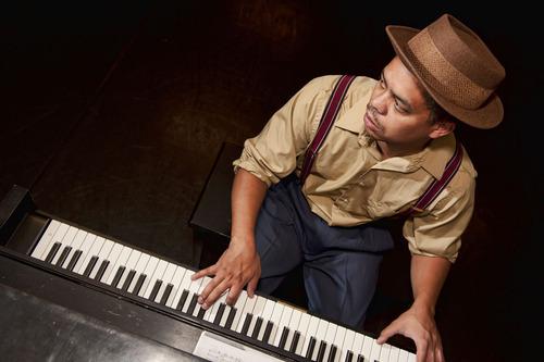 Laikwan Waigwa-Stone plays Jimmy Powers, piano accompanist to Billie Holiday in Pygmalion Theatre Company's production of