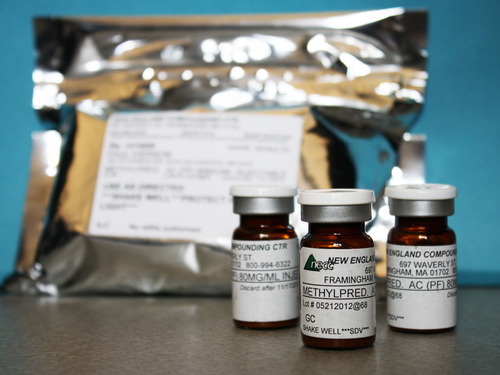 FILE - In this photo made available, Oct. 9, 2012, by the Minnesota Department of Health shows shows vials of the injectable steroid product made by New England Compounding Center implicated in a fungal meningitis outbreak that were being shipped to the CDC from Minneapolis. On Thursday, Oct. 18, 2012, the U.S. Food and Drug Administration said the fungus was in one lot of vials made in August, 2012 by the New England Compounding Center of Framingham, Mass. The specialty pharmacy has been at the center of a national investigation into more than 250 fungal meningitis cases, including at least 20 deaths. (AP Photo/Minnesota Department of Health, File)