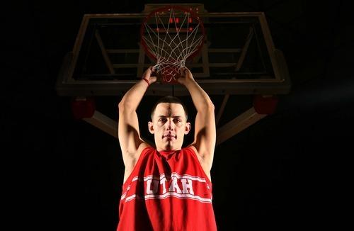 Leah Hogsten  |  The Salt Lake Tribune  University of Utah basketball team's Jason Washburn, Utah's big man hoping to make a difference this season, Tuesday, October 22, 2012.