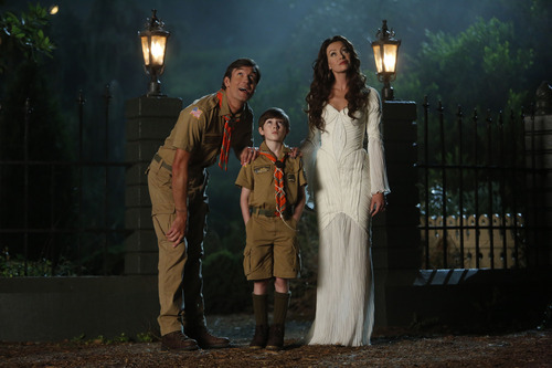 Courtesy photo Jerry O'Connell as Herman, Mason Cook as Eddie and Portia de Rossi as Lily in