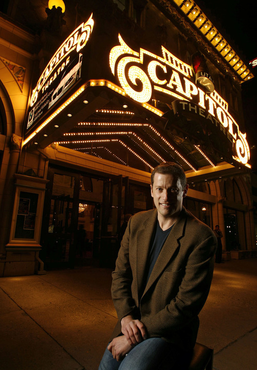 Francisco Kjolseth  |  The Salt Lake Tribune After five years as Ballet West artistic director, Adam Sklute - pictured on Oct. 17, 2012 in front of Salt Lake City's historic Capitol Theatre, has extended his contract at the helm of the Utah company.