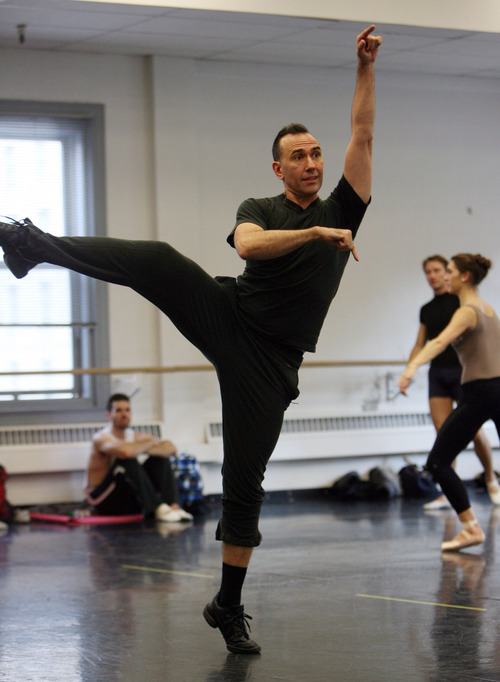 Steve Griffin | The Salt Lake Tribune   Nicolo Fonte, Ballet West's new resident choreographer, works with dancers, as they rehearse for the upcoming performance of