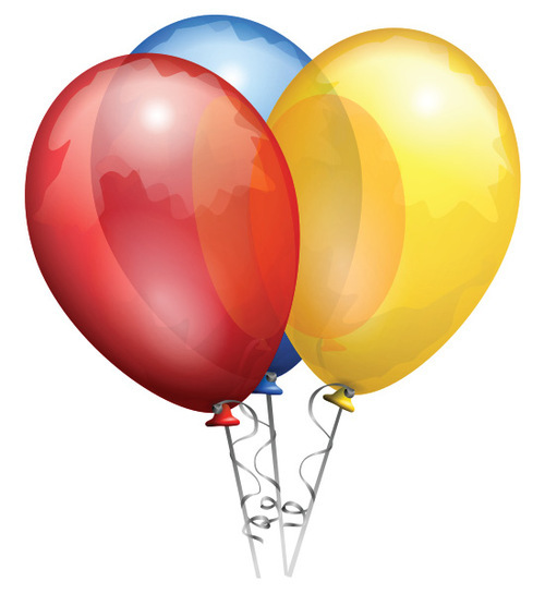 Three colorful balloons to make stuff look pretty.